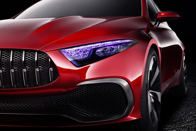 Mercedes-Benz Concept A Auto Shanghai headlights