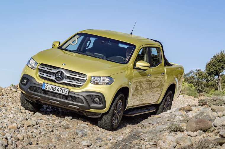Mercedes-Benz X-Klasse – Exterieur, Limonitgelb metallic, Ausstattungslinie PROGRESSIVE // Mercedes-Benz X-Class – Exterior, limonite yellow metallic, design and equipment line PROGRESSIVE