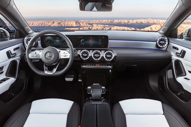 The screens are better integrated than the outgoing car