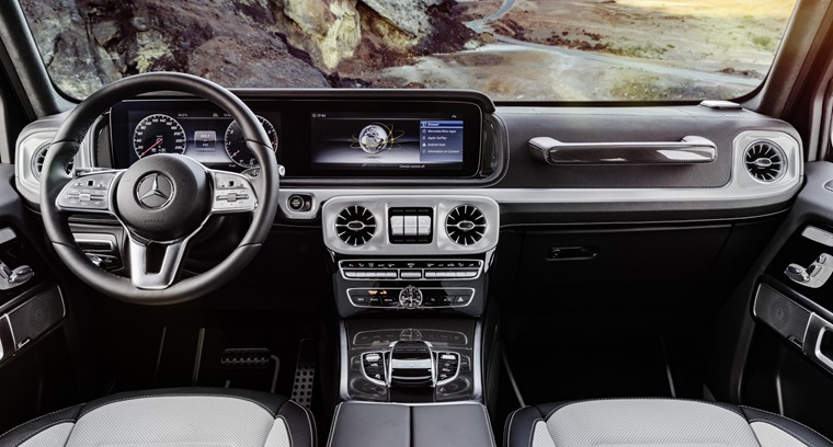 G-Class interior features tech and trim from E-Class saloon