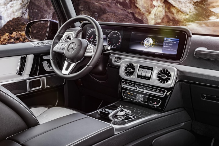G-Class interior is packed with tech.