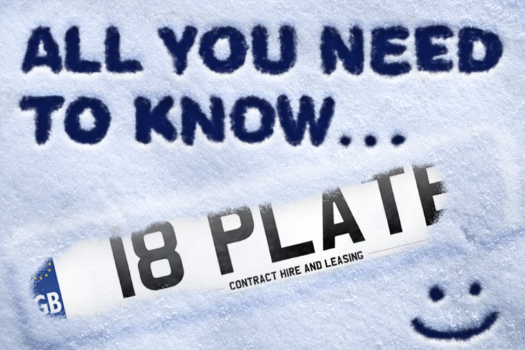 The 18 plate is officially here.