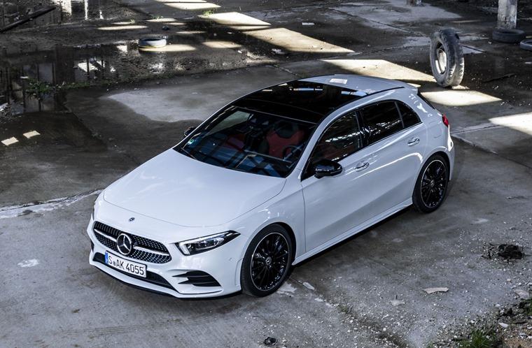 2018 Mercedes-Benz A-Class top down