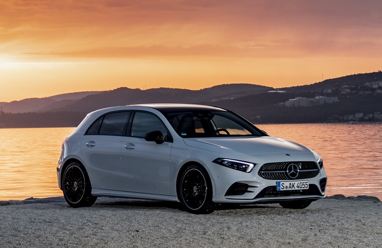 2018 Mercedes-Benz A-Class sunset