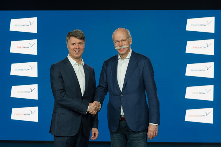 Zetche and Krueger announce BMW Daimler joint venture