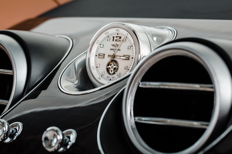 The most exclusive option in the world? Bentaygas are available with a Breitling self-winding clock that adds £150,000 to the list price.