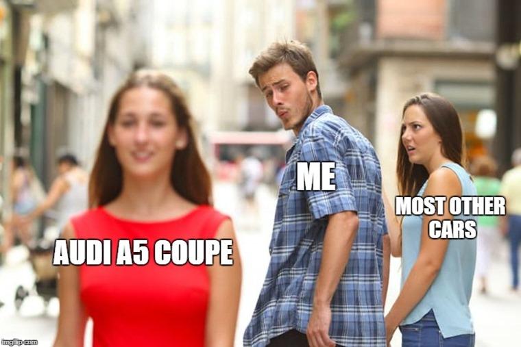 Audi Guy Looking Back meme