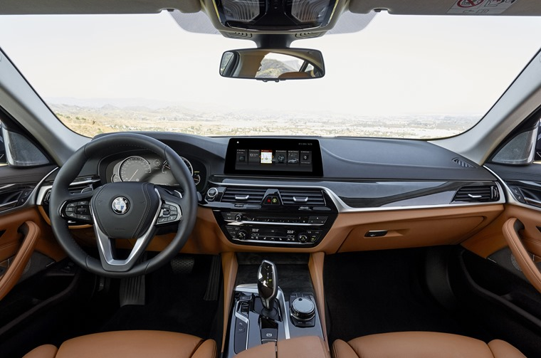 Fine leather, upmarket market plastics and supreme build quality make the 5 Series' cabin a nice place to be.