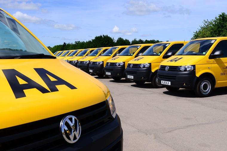 Volkswagen Transporter AA yellow vans