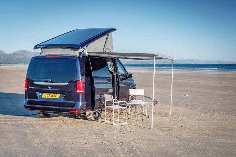 Mercedes-Benz Marco Polo on the beach