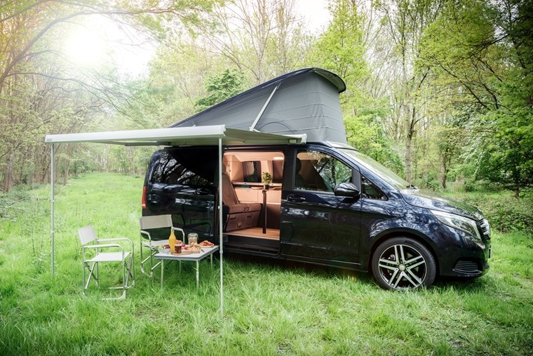 The ultimate campervan? the V-Class Marco Polo takes camping up a notch...