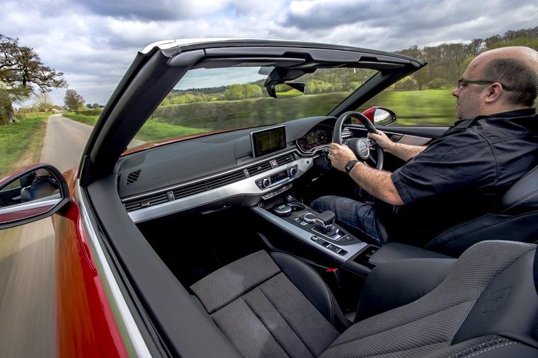 Phil Huff Audi A5 Cabriolet interior