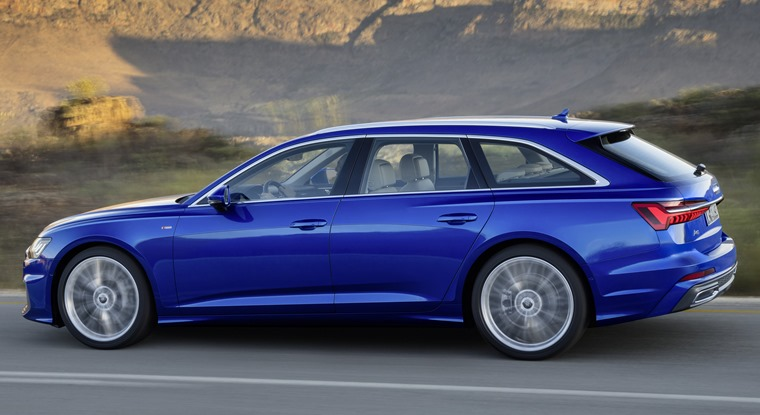 Audi A6 Avant side profile gets a lower roof line