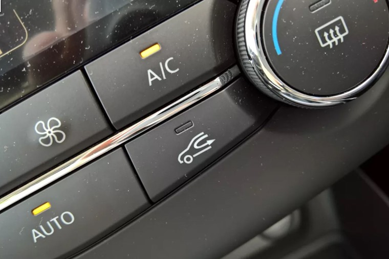air recirculation button