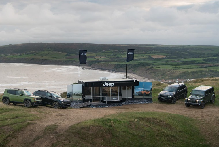 Pop-up Jeep dealer on the Yorkshire coast