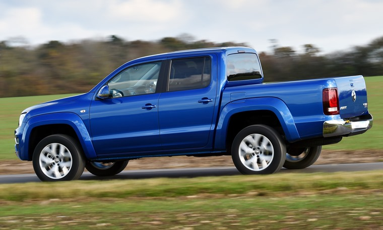 Volkswagen Amarok on the road