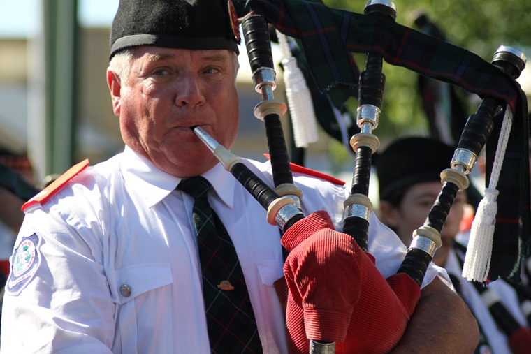 New Zealand police officers stopped a driver after they observed him playing the bagpipes