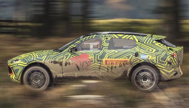 Aston Martin DBX prototype testing side