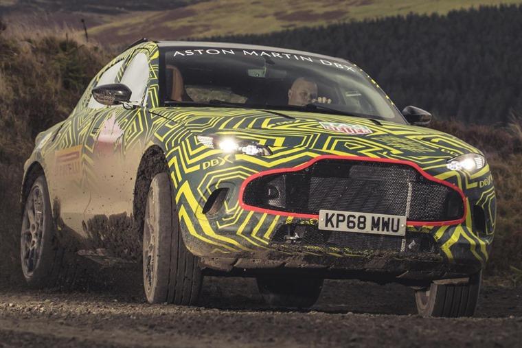 Aston Martin DBX prototype testing