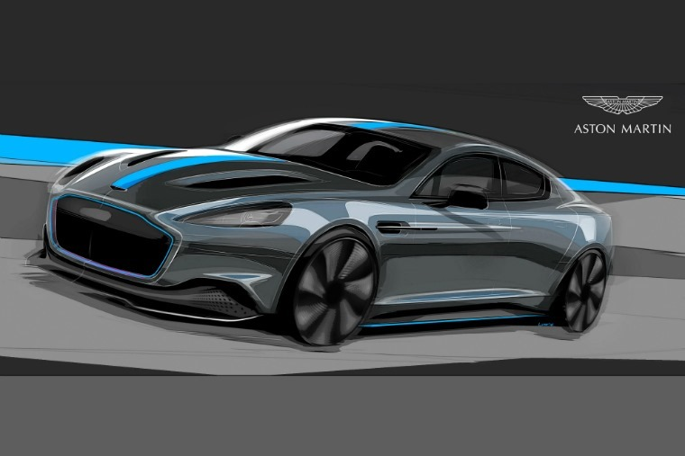 Aston's first all-electric car will take the form of the standard Rapide saloon.