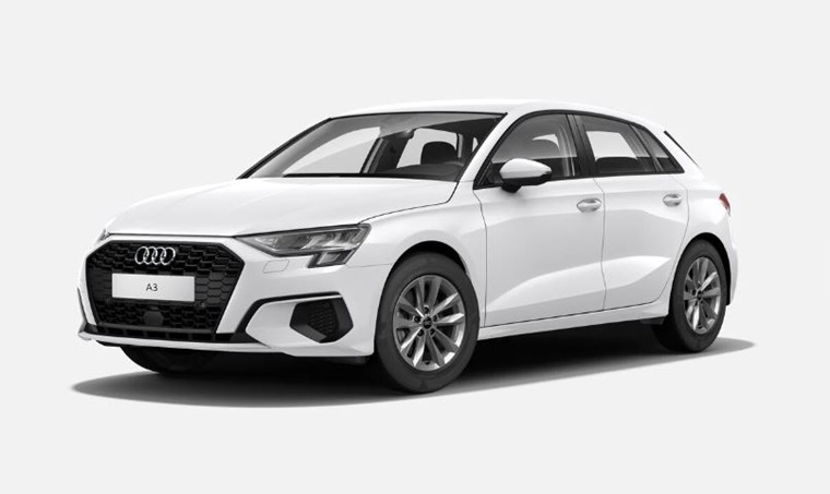 Audi A3 2021 Ibis White no-cost option