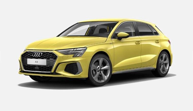 Audi A3 2021 Python Yellow 575