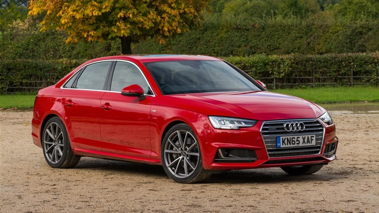 Audi A4 2016 Red Front Static