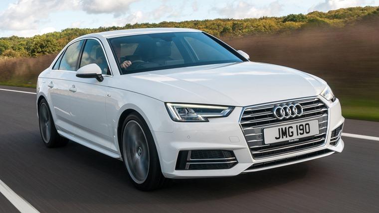 Audi A4 2016 White Front Dynamic