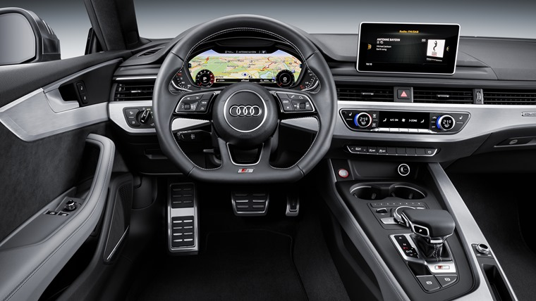 Mid-level SE spec and above gets Audi's vivid MMI infotainment system, in place of traditional, analogue dials.