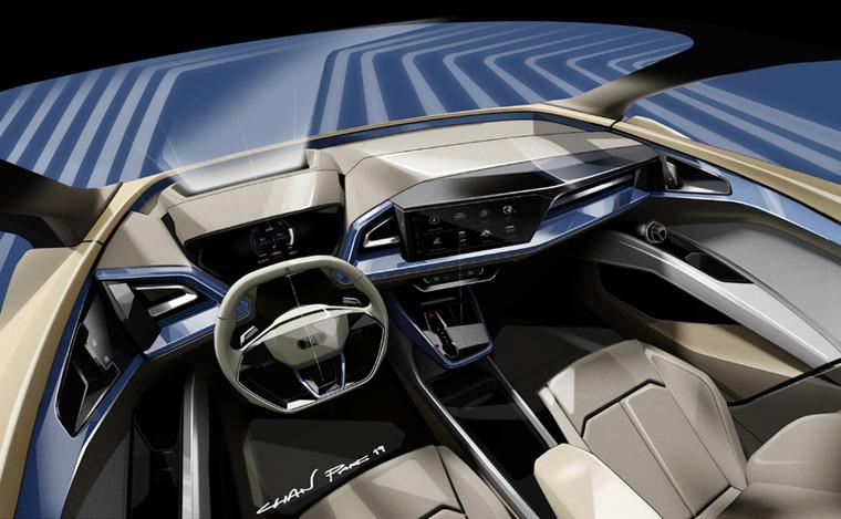 Audi e-tron Q4 concept interior