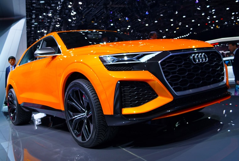 The Audi Q8 is still a concept, although we expect a production variant to be ready in time for next year's show.
