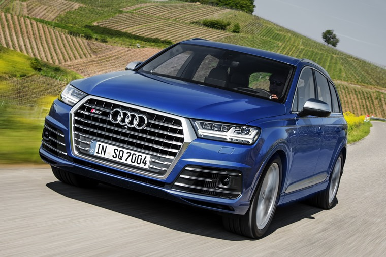 Audi SQ7 2016 Blue Front Dynamic