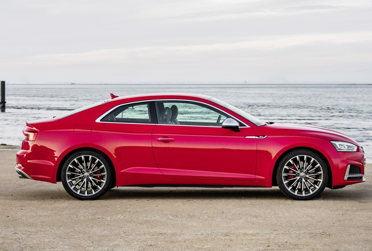 The Audi S5 is the hottest of the lot, and gets from 0 to 62mph in just 4.7 seconds.
