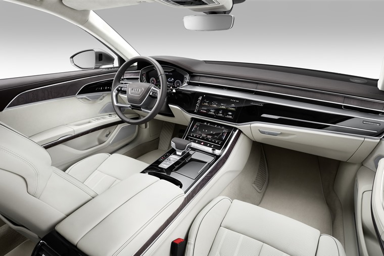 The interior is up to Audi's usual impeccable standards of build quality.