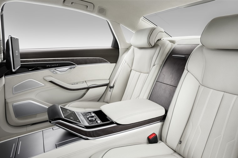 The rear seats get more legroom and their own infotainment and climate control systems.