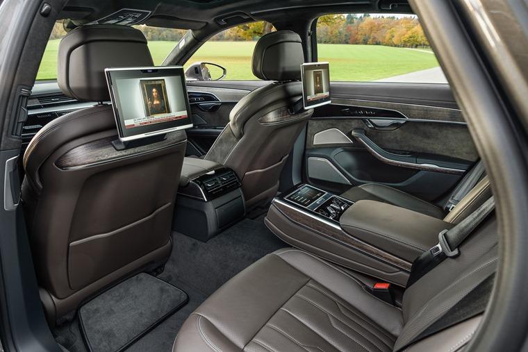 Audi A8 rear interior