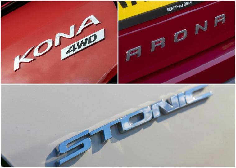 Kona Arona Stonic badging