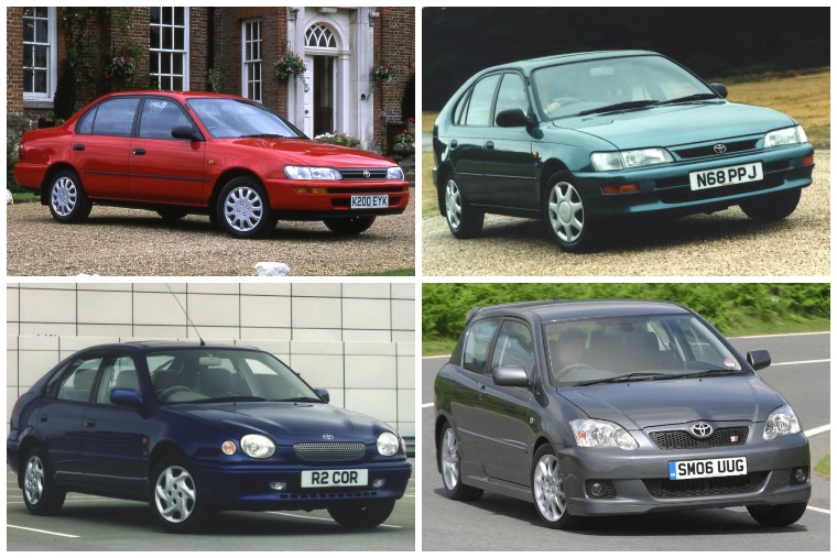Toyota Corolla through the years
