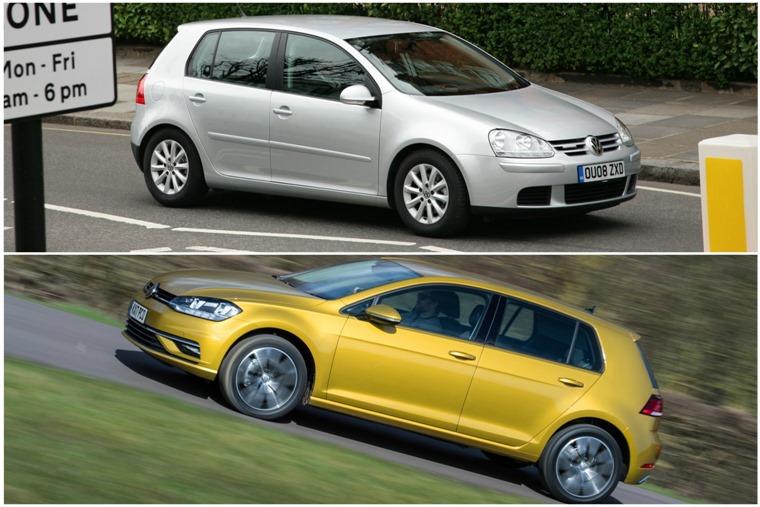 Old vs new: Volkswagen Golf