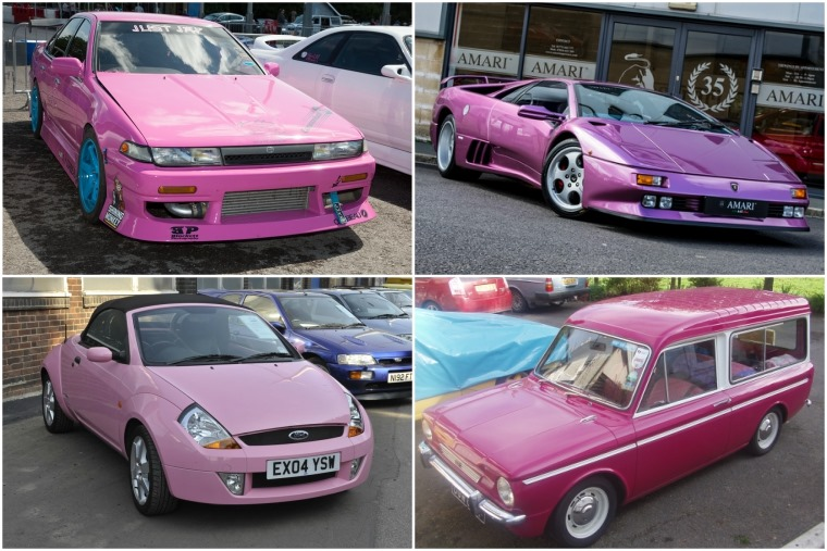 SMMT analysis shows Leicester has highest proportion of pink cars in the country.