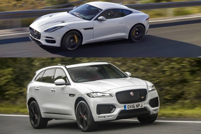 Jaguar F Pace and F Type comparison