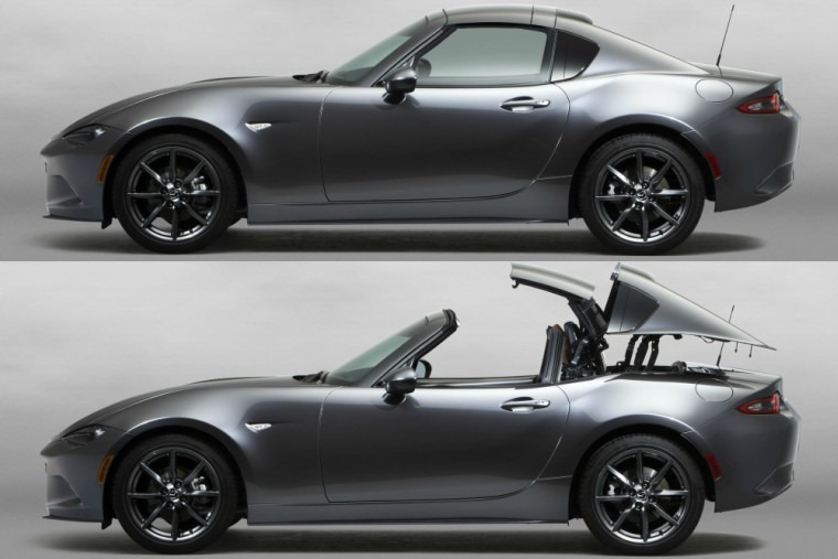 Mazda MX-5 RF gets a metal roof, but it still comes off.