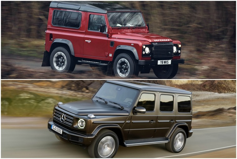 The G-Class is thriving, while the Defender was officially killed off in 2016.