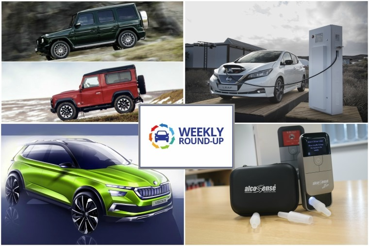 Top right anti-clockwise: Clash of two titans, Nissan plugs in with the new Leaf, we test drive a personal breathalyser and Skoda reveals crossover concept.