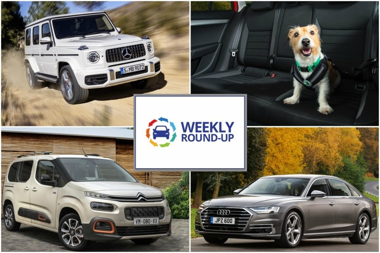 Weekly round-up: G-Class, top cars for dogs, Audi A8 review, new Citroen Berlingo.