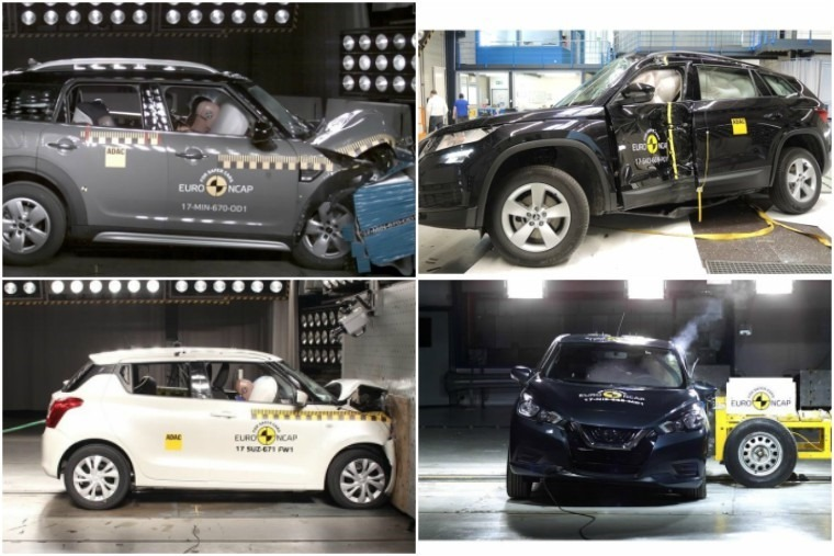 The latest set of cars put through their paces with Euro NCAP.
