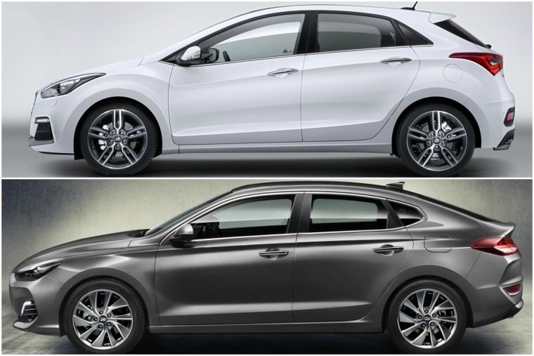 The i30 Fastback (below) will join the regular hatch (above) and offers a sleeker look and a more dynamic chassis.