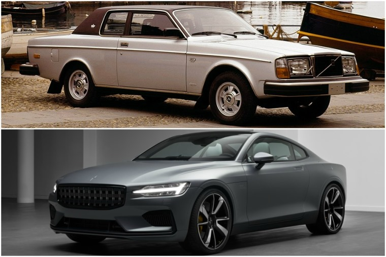 Volvo's first luxury coupe, the 262C... and the upcoming all-electric Polestar 1.