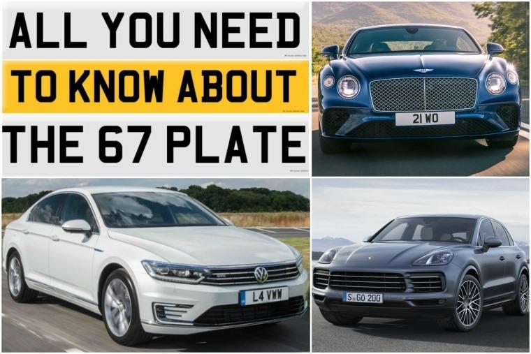 Top left clockwise: new 67 plate, new Bentley Continental GT, new Porsche Cayenne, Volkswagen Passat GTE reviewed.