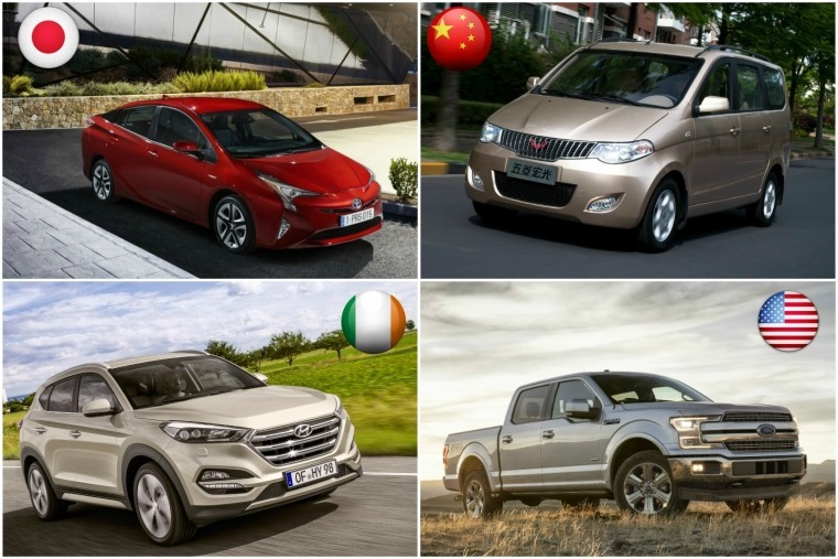 We've had a look at the most popular vehicles from around the globe...